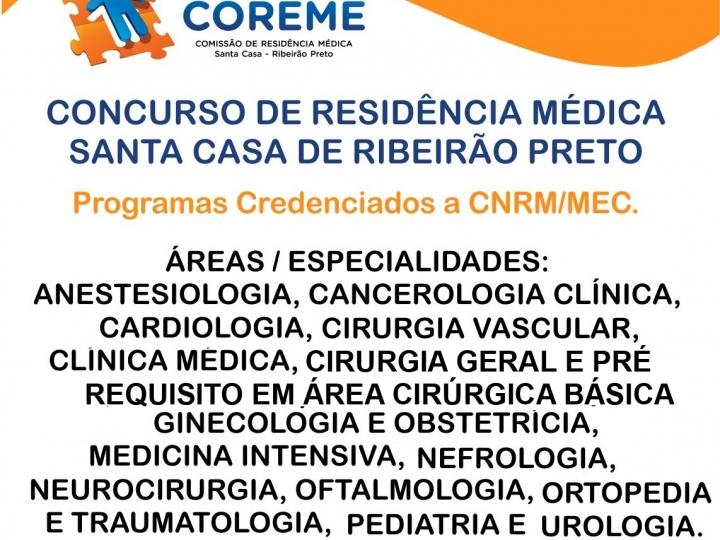 Concurso de Residência Médica Santa Casa de Ribeirão Preto
