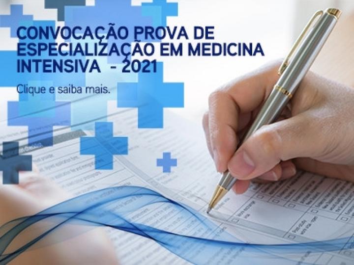 Convocação prova de especialização em medicina intensiva - 2021